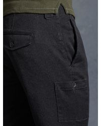 John Varvatos - Gray Cotton Cargo Pant for Men - Lyst