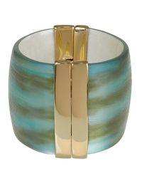 Alexis Bittar | Blue Wide Hinged Cuff Bracelet | Lyst