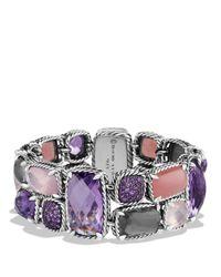 David Yurman - Purple Chatelaine Mosaic Bracelet With Lavender Amethyst, Guava Quartz & Amethyst - Lyst