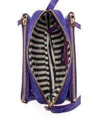 M Missoni - Purple Stamped Leather Shoulder Bag - Lyst