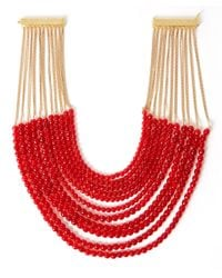 Rosantica | Metallic Red Raissa Agate Bead Necklace | Lyst