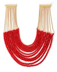 Rosantica - Metallic Red Raissa Agate Bead Necklace - Lyst