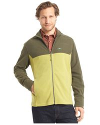G.H. Bass & Co. - Green Full-zip Fleece Jacket for Men - Lyst
