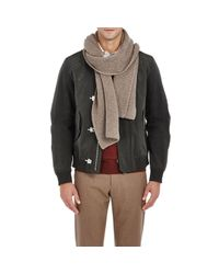 Barneys New York - Natural Honeycomb-stitched Scarf for Men - Lyst