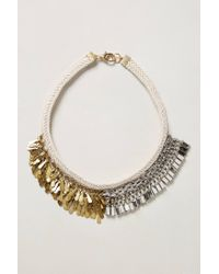 Anthropologie | Metallic Nkl Ntrl Shop Half Fringe | Lyst