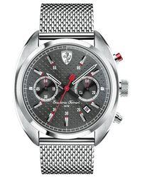 Ferrari - Metallic Scuderia Men's Chronograph Formula Sportiva Stainless Steel Mesh Bracelet Watch 43mm 830214 for Men - Lyst