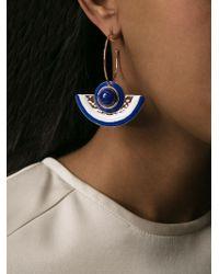 Tory Burch | Blue Enamel Half-Moon Earrings | Lyst