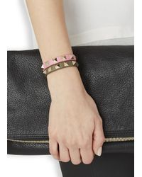 Valentino - Green Rockstud Mini Olive Leather Bracelet - Lyst