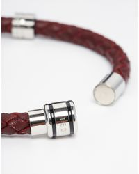 Ted Baker - Brown Leather Plaited Bracelet for Men - Lyst