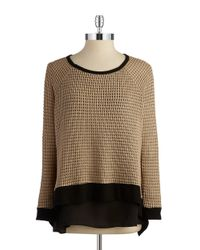 Lord & Taylor | Brown Layered-style Top | Lyst