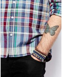 ASOS - Brown Leather Bracelet Pack with Beads for Men - Lyst