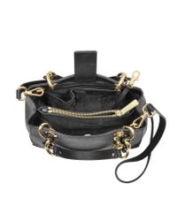 Michael Kors - Black Cynthia Small Saffiano Leather Ns Satchel Bag - Lyst