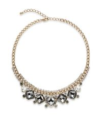 Cara - Metallic Faceted Sparkle Necklace - Lyst