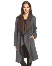 Lafayette 148 New York | Brown 'felice' Reversible Wool & Cashmere Long Coat | Lyst