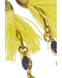 Isabel Marant - Metallic Gold-Plated, Howlite And Tassel Wrap Necklace - Lyst