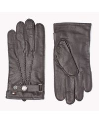 Tommy Hilfiger | Brown Leather Gloves for Men | Lyst