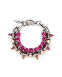 Joomi Lim - Pink 'dynamic Duo' Spike Sphere Bracelet - Lyst
