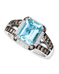 Le Vian - Multicolor 14 Kt. White Gold Aqua Diamond Ring - Lyst
