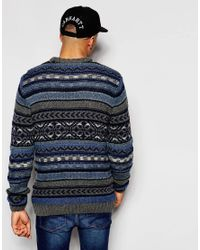 Native Youth | Blue Winter Fisherman Knit Jumper for Men | Lyst