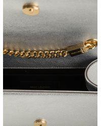 Saint Laurent - Monogramme Metallic-Leather Shoulder Bag - Lyst