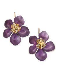 Alexis Bittar | Prairie Crocus Floral Lucite Earrings Purple | Lyst