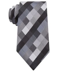 Kenneth Cole Reaction - Black Color Box Geo Tie for Men - Lyst
