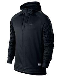 Nike   Black Men's Elite Striped Full-zip Basketball Hoodie for Men   Lyst