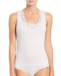 COACH - White Isabeau Tank Top - Lyst
