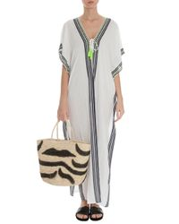 Cool Change | White Nalu Border Amalfi Kaftan | Lyst