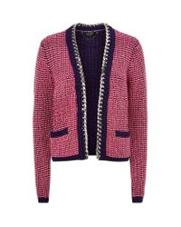 Juicy Couture Purple Chain Trim Cardigan