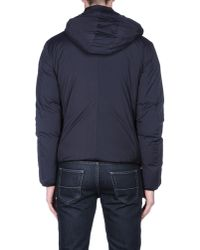 Emporio Armani - Blue Down Jacket for Men - Lyst