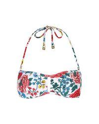 TOPSHOP - Multicolor Pop Floral Bandeau Bikini Top - Lyst
