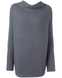 Dorothee Schumacher | Gray Long Ribbed Sweater | Lyst