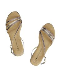 Butterfly Twists | Metallic Charlie Strappy Sandal | Lyst
