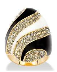Palmbeach Jewelry | Metallic Grey Crystal Mod Cocktail Ring Made With Swarovski Elements In 14k Gold-plated | Lyst