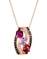 Le Vian | Pink 14 Kt. Rose Gold Multi Diamond Pendant | Lyst
