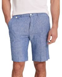 Polo Ralph Lauren - Blue Straight-fit Briton Chambray Shorts for Men - Lyst