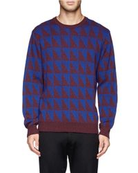 PS by Paul Smith - Blue Bi-colour Triangle Sweater for Men - Lyst