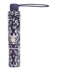 Fulton - Blue Victorian Damask Superslim Umbrella - Lyst