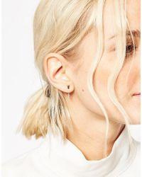 ASOS | Metallic Double Bar Swing Earrings | Lyst
