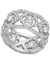 Swarovski | Metallic Silver-tone Crystal Open-work Ring | Lyst