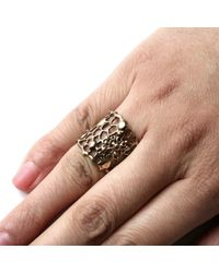 Ayaka Nishi | Metallic Silver Tapered Cell Ring | Lyst
