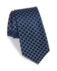 Calibrate | Blue Geometric Silk Tie for Men | Lyst