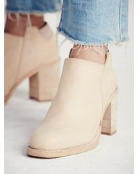 Free People | Natural Upper Peak Ankle Boot | Lyst