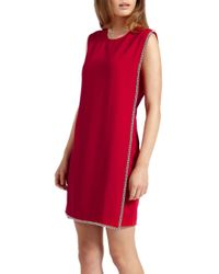 Ted Baker - Burford Double Layer Embroidered Tunic Dress - Lyst