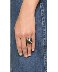 Sam Edelman - Pave Nugget Ring - Black/gold - Lyst