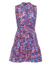 Saloni - Blue 'nikki' Floral Dress - Lyst