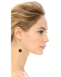 Marc By Marc Jacobs | Peace Statement Earrings - Black | Lyst