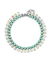 J.Crew | Green Iridescent Bar Necklace | Lyst