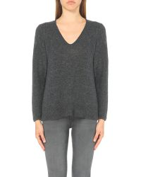 James Perse | Gray V-neck Cashmere Jumper | Lyst